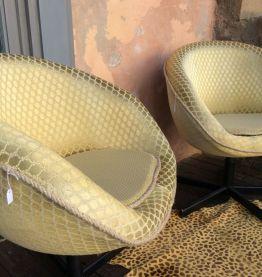 Lot de 2 fauteuils style vintage