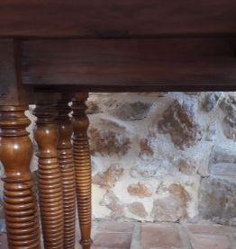 Table ancienne 8 pieds torsadés bois massif