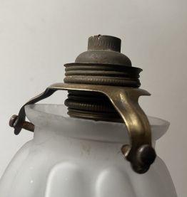 ANCIEN ABAT-JOUR TULIPE VERRE LAMPE VINTAGE