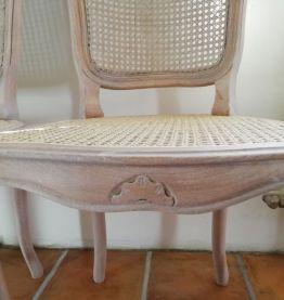 lot de 4 chaises vintage relookées