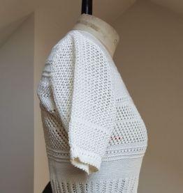 gilet en crochet blanc