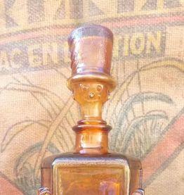 Service à liqueur en verre ambré