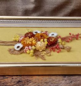 Joli cadre de fleurs séchées - Vintage