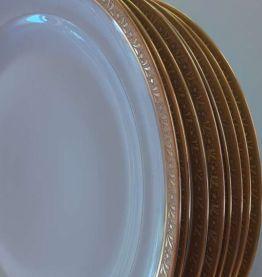 Assiettes Limoges dorure double incrustation