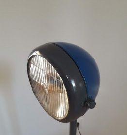 lampe vintage avec phare de voiture ancienne création unique
