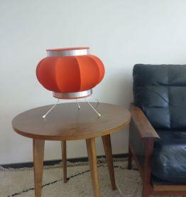 Lampe orange années 70