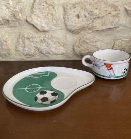 Grande tasse vintage Football