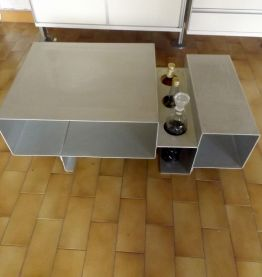 table basse-bar inox 70