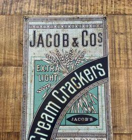 Boîte tôle lithographiée vintage JACOB & Co's Crackers