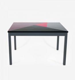Table à manger 4/6 personnes design en bois massif coloré