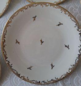 6 assiettes plates Porcelaine de Limoges. Raynaud&Cie 1961