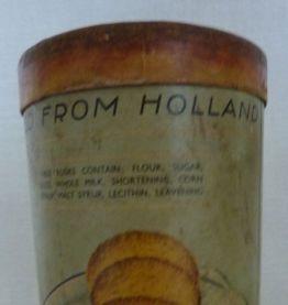 Grande boite publicitaire vintage ronde en carton - famous r