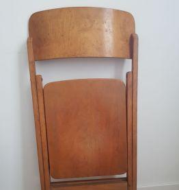 Chaise pliante en bois vintage