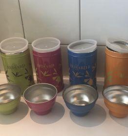 4 boîtes à thé