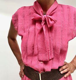 Robe rose bonbon vintage