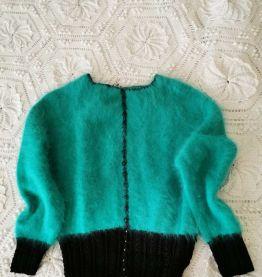 pull tricoté main en mohair