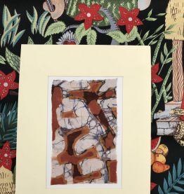 Batik sur papier marouflé 18x24cm