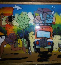 Air Casamance / Fixé sous-verre sénégalais