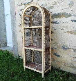 Etagère osier/rotin vintage