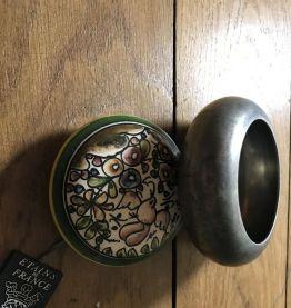 Boîte en étain couvercle céramique