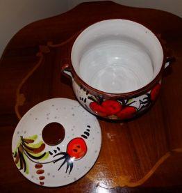 Poubelle de table, pot avec couvercle
