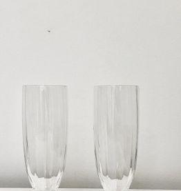 6 verres à champagnes ou apéritif en cristal.