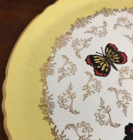 Plat  à tarte Orchies Moulins des Loups décor papillons