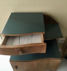 Chevet années 30 bois et vert