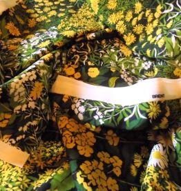 Coupon coton vintage anglais 1973 pour confection