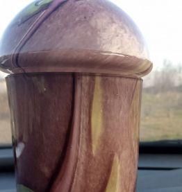 Pot en verre soufflé signé larochere