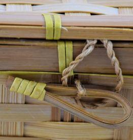 Mallette en bambou tressé