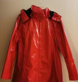 ciré rouge doublé coton