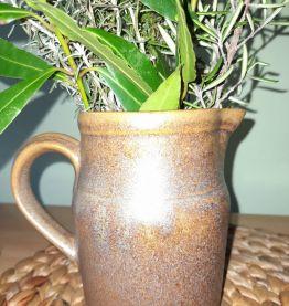 Ancien - Pot en grès signé Digoin + 2 petits pichets
