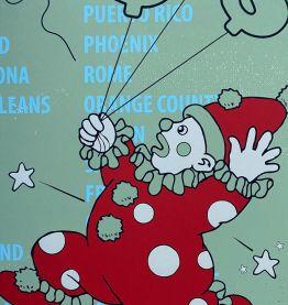 """Lithographie Originale par Wale s Bambose """"LIFE VERSA"""""""