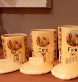 Set de 3 pots à épice faïence czechoslovakia Angelus de Mill