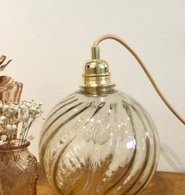 Lampe  baladeuse globe vintage années 70