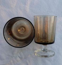 Lot 9 verres à pied vintage
