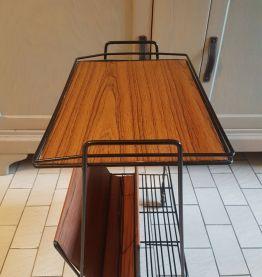 Ancienne desserte vintage, table d'appoint formica 1970