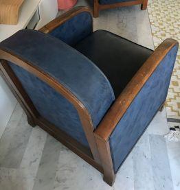 2 fauteuils club années 30
