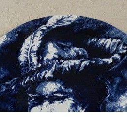 Assiette/ Plat grand format Bleu Majorelle
