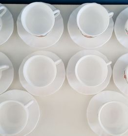 10 tasses et sous-tasses Arcopal