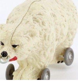 Jouet ours ancien à tirer