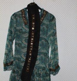 Robe volantée ZANA motifs colorés et perles 38