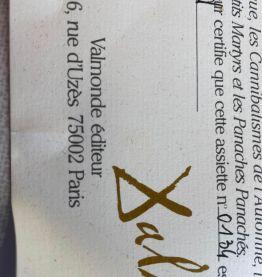 Vend 3 assiettes de collection Salvador Dali signe