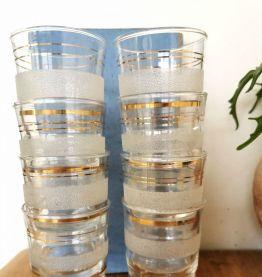 Ensemble carafe et verres anciens