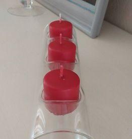Photophore verre 3 bougies