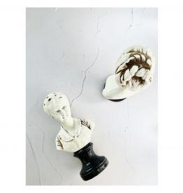 Paire des bustes de Louise et Alexandre BRONGNIART en terre