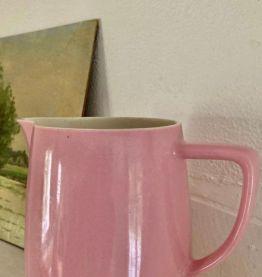 Pichet en céramique, rose