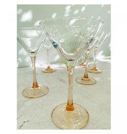 Tchin Tchin! Ensemble de 8 verres Martini Ice Pink