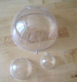 16 Boules en Plastique Transparent Séparable